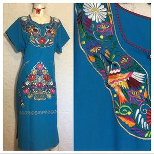 Dresses & Skirts - Mexican Oaxacan Embroidered Hummingbird Dress